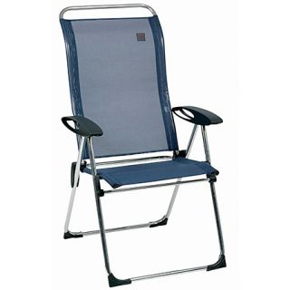Aluminum Folding Patio Lawn Chair Ocean Blue