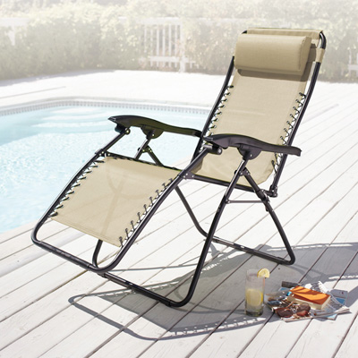 XL Oversized Zero Gravity Folding Lawn Chair